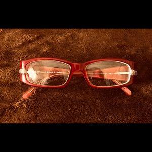 Prada Red Glasses